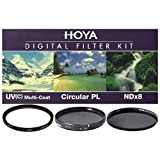 Hoya 52mm Digital Filter Kit - HMC UV(C), Circular Polarising & NDx8 with Filter Pouch