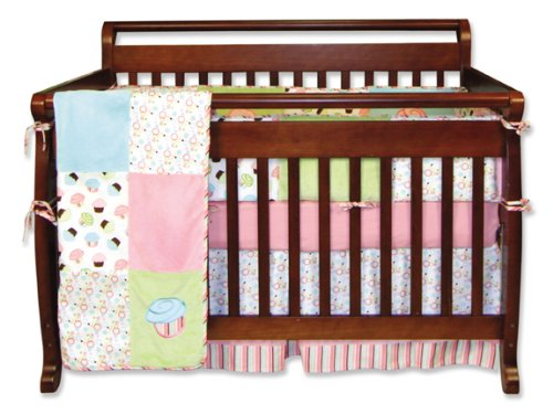 Pink And Teal Baby Bedding 179245 front