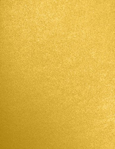 LUXPaper 8.5 x 11 Paper for Crafts and Printing in Fine Gold Metallic - Stardream Scrapbook and Office Supplies, 50 Pack (Gold) (Color: Fine Gold Metallic - Stardream?, Tamaño: 50 Qty.)