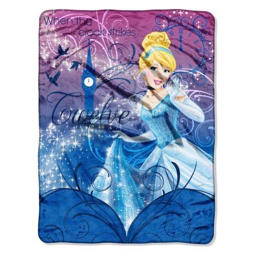 "Disney Princess Cinderella Micro Raschel Throw Blanket ""Cinderella'S Palace"""