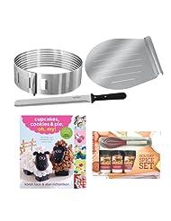 Frieling Zenker Z2411 Layer Cake Slicing Kit + Kamenstein Mini Whisk Spice Set + Accessory Kit by Frieling