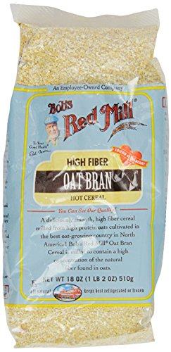 One 18 oz Bob's Red Mill Oat Bran Cereal