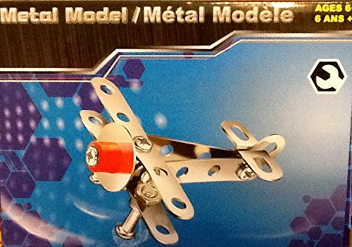 Mini Red & Silver Airplane ~ Mini Construction ~ Metal Model with Tools & Instruction - 1