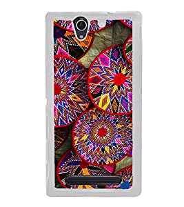 Bright Multicolour Circles 2D Hard Polycarbonate Designer Back Case Cover for Sony Xperia C4 Dual :: Sony Xperia C4 Dual E5333 E5343 E5363