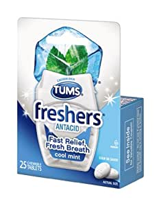 Tums Freshers Antacid, 25 Count
