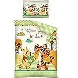 Winnie Pooh TIME FOR BED Baby Bettwäsche Garnitur 100 x 135 / 40 x 60 cm