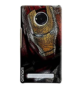 Omnam Iron Man Embossed Iron Man Printed Designer Back Cover Case For Micromax Yunique