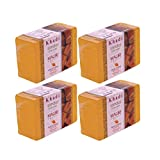 Khadi Mauri Sandal Soaps Pack of 4 Ayurvedic Handcrafted Herbal Natural Soaps