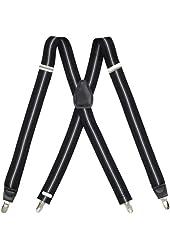 Dockers Men's Stretch Stripe Suspenders