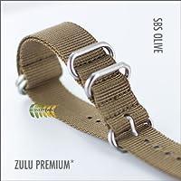 ZULU MILITARY WATCH STRAP, SBS OLIVE DRAB (20,22 & 24mm)