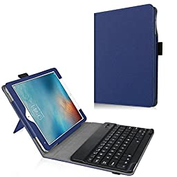 iPad Pro 9.7 Keyboard Case - Premium PU Leather Folio Case Cover with Removable Wireless Bluetooth Keyboard [All-ABS] for 9.7\