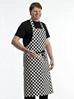 Full Apron Professional Chefs Catering Cook Black White