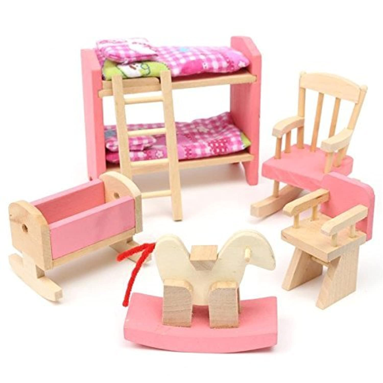 Kids Bedroom Furniture Kids Wooden Toys Online: Kids House Play Wooden Children Doll Houses Toys(Baby