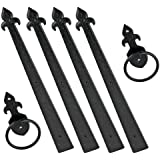 Crown Bolt 10014 Premium Style Decorative Garage Door Kit, 4-Pack Black