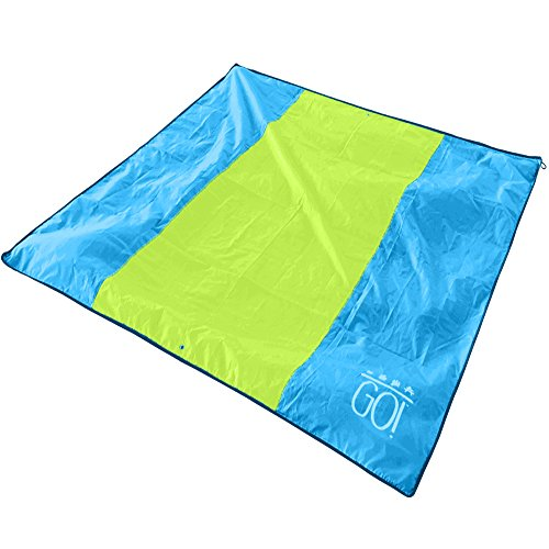 Beach Blanket No Sand: GO! Waterproof Beach / Picnic Blanket Outdoor Mat