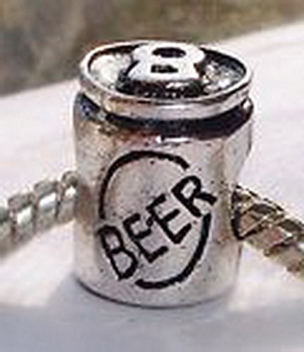 Beads Hut - Beer Alcohol Drink Party Bar Beverage Bead fits Silver European Charm Bracelets