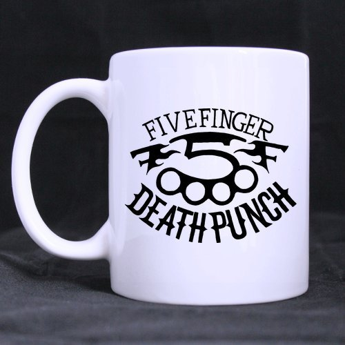Five Finger Death Punch, con Logo teschio Morphing Mug tazze da tè, 28 cl Home tazza, stampata su due lati