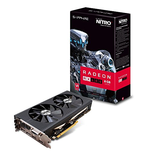 Sapphire AMD RX480 Nitro+ 8 GB GDDR5 Memory Polaris FinFET DX 12 Vulkan FreeSync PCI-Express Graphics Card
