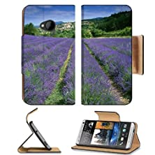 buy Flowers Fields France Lavender Village Htc One M7 Flip Cover Case With Card Holder Customized Made To Order Support Ready Premium Deluxe Pu Leather 5 11/16 Inch (145Mm) X 2 15/16 Inch (75Mm) X 9/16 Inch (14Mm) Msd Htc One Professional Cases Accessories Op