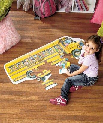 Jumbo 24 Pc School Bus Shaped Floor Puzzle - 1