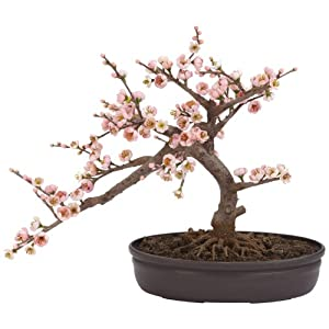 Nearly Natural 4764 Cherry Blossom Bonsai Silk Tree, Pink
