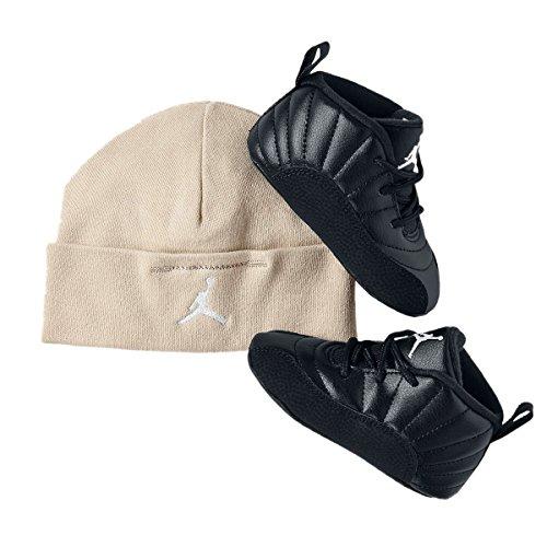 Nike Jordan Retro 12 THE MASTER Gift Pack Crib Black Rattan White Metallic Gold 378139-013 (2C)