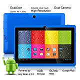 "Tagital® 7"" Android 4.2.2 A23 Dual Core Dual Camera Tablet PC Play Store Pre-installed Blue"