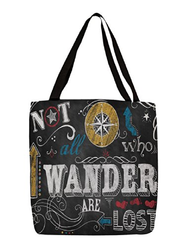 Thumbprintz Shopping Tote, 18-Inch, Chalkboard-Wander front-442400