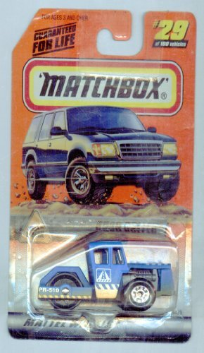 Matchbox 1999-29/100 Series 6 Road Work BLUE Road Roller 1:64 Scale - 1