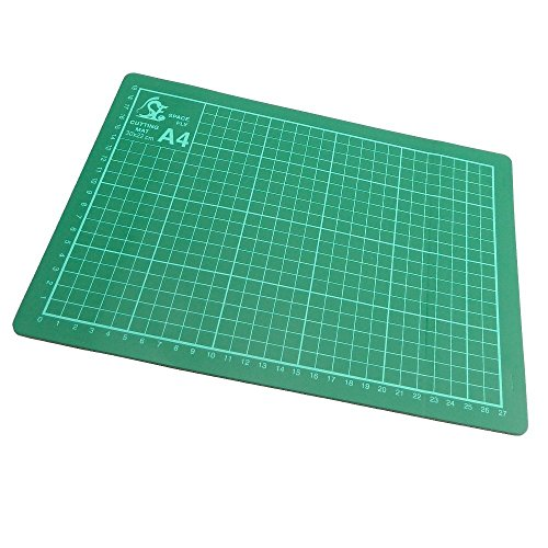 Copacetic A4 Cutting Mat - Card Paper Cutting Trimming Mat Matt Board - Non-Slip Surface - Marking Guides for accurate cutting - 220 x 300 mm - 3 mm Thick - (Neoteric Design)