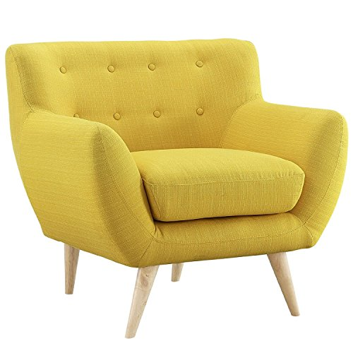 Mid Century Modern Style Sofa / Love Seat Red, Grey, Yellow, Blue - 1 Seat, 2 Seat, 3 Seat (Yellow, 1 Seater)