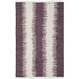 Safavieh Montauk Collection MTK751D Hand-Woven Area Rug, 8-Feet by 10-Feet, Purple Cotton