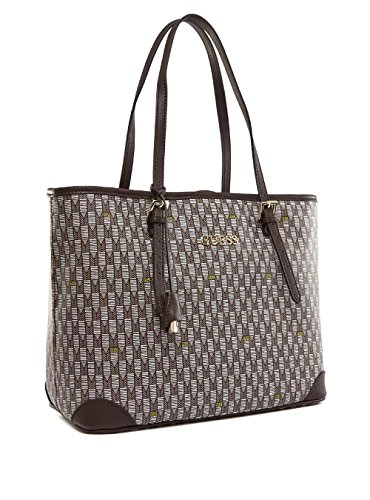 Guess Cube Shopper Tasche 35 cm brown multi thumbnail
