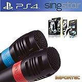 Professionelles KARAOKE Set: 2x Mikrofone + 1x Singstar Adapter - für PS2 / PS3 / PS4 / Wii / XBOX / PC