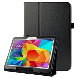 Litchi Texture Flip Leather Case with Holder for Samsung Galaxy Tab 4 10.1 / T530 (Black)