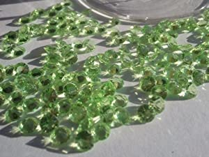 5000 4.5mm Apple Green Diamond Scatter Wedding Table Crystals