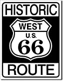 Historic Route 66 West Highway Road Tin Sign