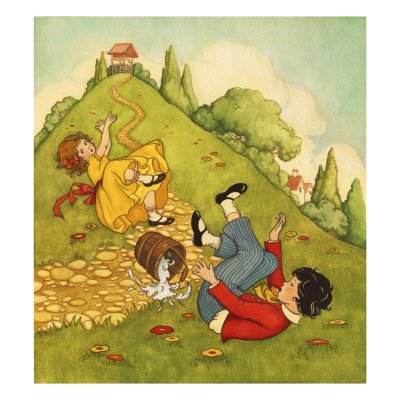Jack and Jill Nursery Rhyme brPremium Poster Print