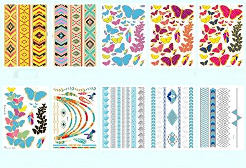 wallner-multicolore-temporary-tattoo-flash-tatuaggi-sticker-10-fogli-a2