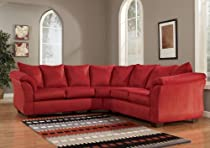 Hot Sale Red Upholstery Fabric Sectional by Ashley Furniture