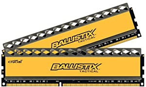 Crucial 8GB kit (4GBx2) Mémoire RAM DDR3 1600 MT/s (PC3-12800) CL8 @1.5V Ballistix Tactical UDIMM 240pin