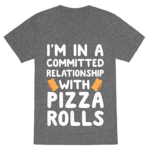 im-in-a-committed-relationship-with-pizza-rolls-large-heathered-gray-unisex-v-neck-heathered-tee-by-