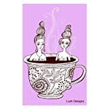 Lush Tea Towel Tea Cup Ladies Pink