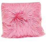 Brentwood Originals 1055 Angora Fur 18 Inch Decorative pillow, Pink