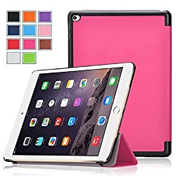 iPad Pro Case , Exact [SLENDER Series] iPad Pro 12.9inch Case - Ultra Slim Lightweight Smart-shell Stand Case for Apple iPad Pro (2015 release) (With Auto Wakes/Sleep Function) Hot Pink