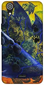 The Racoon Lean For Dog Lovers hard plastic printed back case / cover for Micromax Canvas Selfie Lens Q345