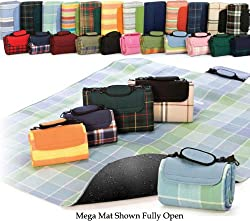 "68"" x 82"" Large Multi-Purpose Padded Waterproof Picnic Mega Mat - Burgundy"