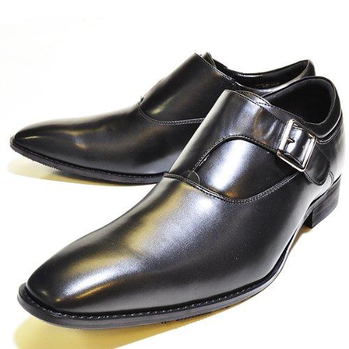 送料無料【7cmアップ】シークレットシューズ メンズ 男性用 脚長効果 紳士用 靴 ビジネス 7cmアップ 身長 伸ばす 背が高くなる靴 (L:27~28cm)