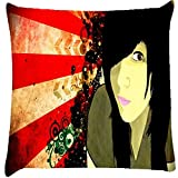 Snoogg fan art chic Digitally Printed Cushion Cover throw pillows 14 x 14 Inch