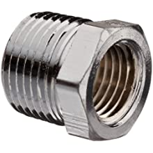 Chrome Plated Brass Pipe Fitting, Hex Bushing, NPT Male X NPT Female